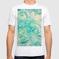 marbling twirl Mens Fitted Tee Ash Grey SMALL