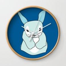Blue Bunny Rabbit Wall Clock