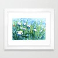 Daisies II Framed Art Print