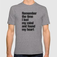 Remember The Time... Mens Fitted Tee Athletic Grey SMALL