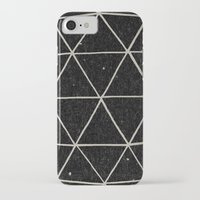 triangle iPhone & iPod Cases featuring Geodesic by Terry Fan