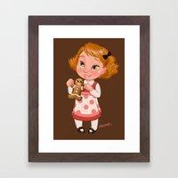Gingerbread Baker Framed Art Print