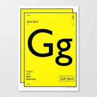 Gill Sans Canvas Print