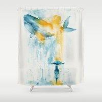 A Majestic Midsummer Rain Shower Curtain