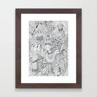 Monsters In My Closet Framed Art Print