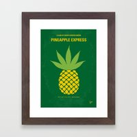 No264 My PINEAPPLE EXPRE… Framed Art Print
