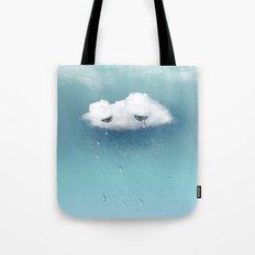 crying cloud Tote Bag