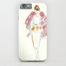 Faux Fur Fashion Illustration iPhone 6 Slim Case