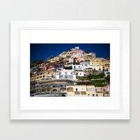 Positano Italy Framed Art Print