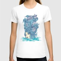 Ocean Queen Womens Fitted Tee White SMALL