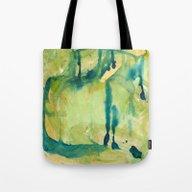 Tearful Aqua Drops Tote Bag