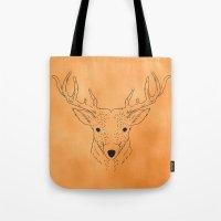 Deer Lines Tote Bag
