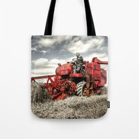 The Red Combine Tote Bag