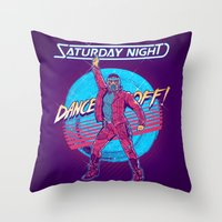 Saturday Night Dance-Off Throw Pillow