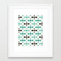 Stone Wall (Garden Green) Framed Art Print