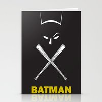 Bat Man Stationery Cards
