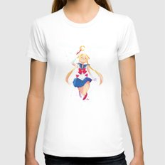 Sailor Moon Womens Fitted Tee White SMALL