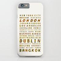 Travel World Cities iPhone 6 Slim Case