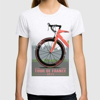 Tour De France Bike Womens Fitted Tee Ash Grey SMALL