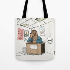 Chewwie at work Tote Bag