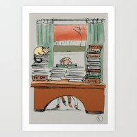 The Idle Reader Art Print