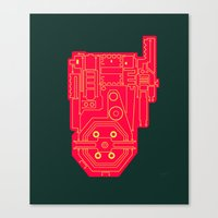 Circuit Drawing of a Proton Pack Canvas Print