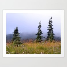 High Upon A Mountain Art Print