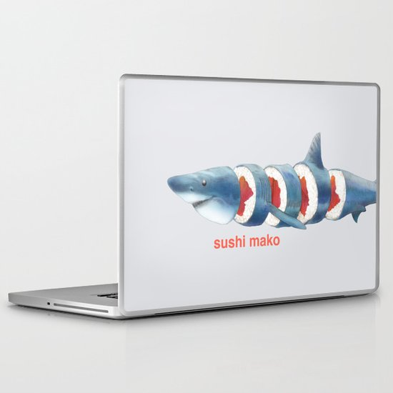 Sushi Mako (color option) Laptop & iPad Skin