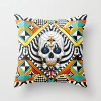 Skullture Throw Pillow