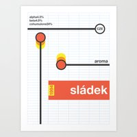 Sladek Single Hop Art Print
