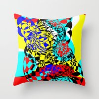 Color Bomb  Throw Pillow