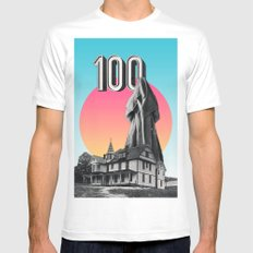 100 Nuns SMALL White Mens Fitted Tee
