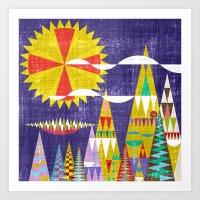 Les Alps Art Print