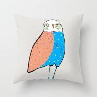 The Owl. Throw Pillow