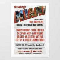 Subdrive x Rot10 Musik Ultra Week 2011 Poster Art Print