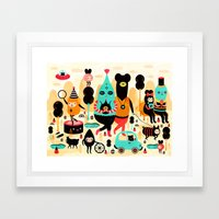 Sunday! Framed Art Print