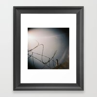 Razor Wire Framed Art Print