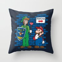 Your Princess is in Another Castle Throw Pillow