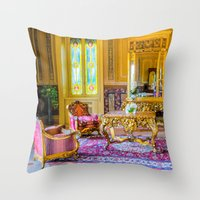 Victorian Boho Throw Pillow