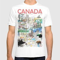 Canada (portrait version) Mens Fitted Tee White SMALL