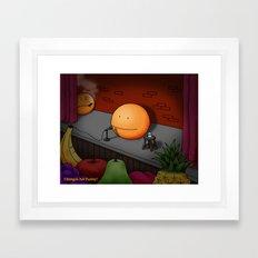 Orange Stand-up Comedy Club Framed Art Print