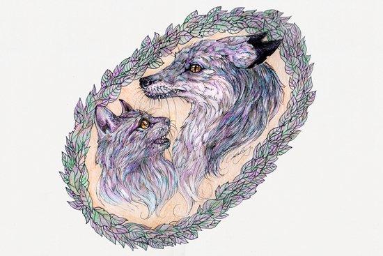 Cat & Fox Art Print