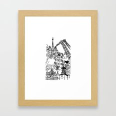 Three City Silhouettes Framed Art Print