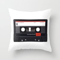 Old School Tape Throw Pillow