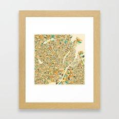 COPENHAGEN Map Framed Art Print