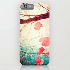 Tree autumn and blue textured sky iPhone 6 Slim Case