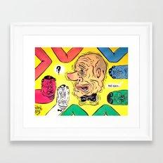 FOLLOW ME ON INSTAGRAM! patrickthatdraws Framed Art Print
