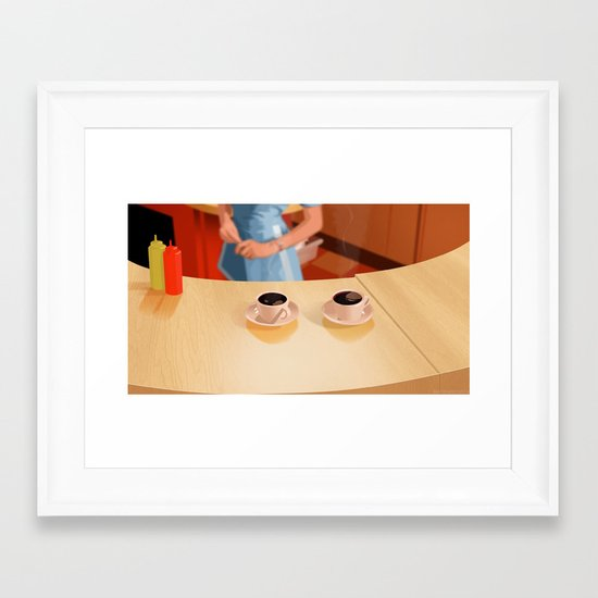 Coffee in Double R Dinner Framed Art Print