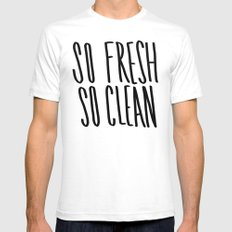 SO Fresh SO Clean Mens Fitted Tee White SMALL