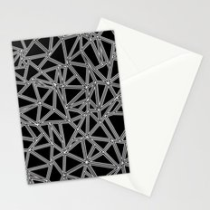Abstract New White on Black Stationery Cards